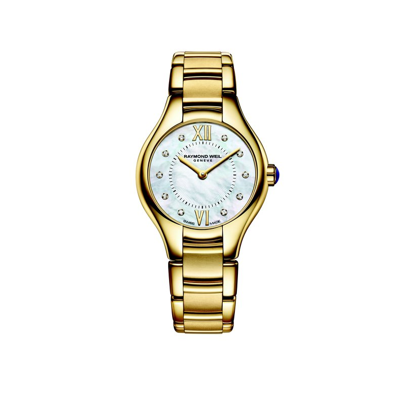 Raymond Weil Ladies Quartz Watch, 24 mm Yellow gold PVD plated stainless steel 10 diamonds