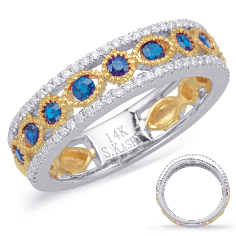 S. Kashi  & Sons Yellow & White Sapphire & Diamond Ring