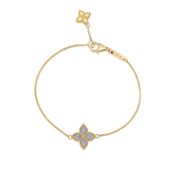 18Kt Gold Charm Bracelet With Diamonds