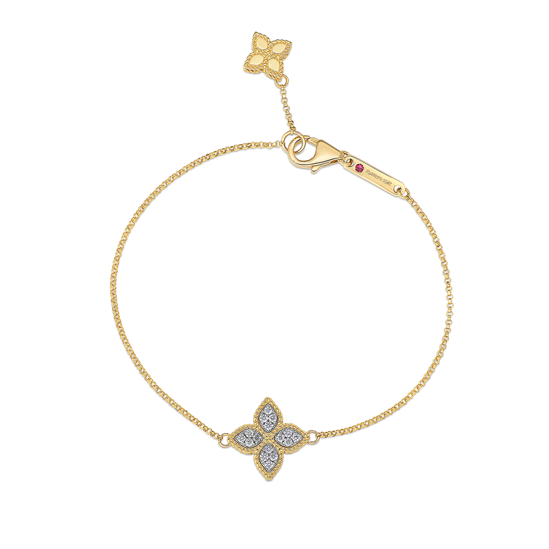 Roberto Coin 18KT GOLD CHARM BRACELET WITH DIAMONDS