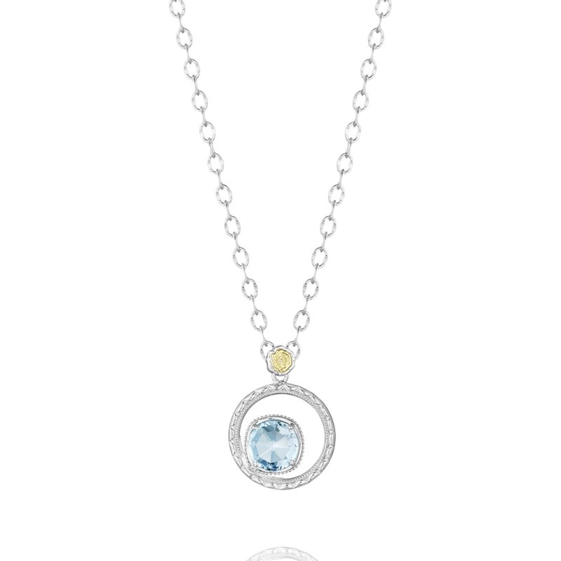 Tacori Fashion Silver Bloom Necklace featuring Sky Blue Topaz