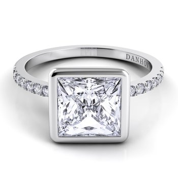 Per Lei Single Shank Engagement Ring