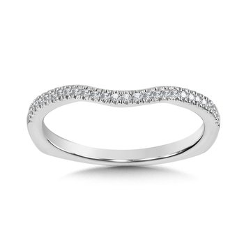 Diamond and 14K White Gold Wedding Ring (0.11 ct. tw.)