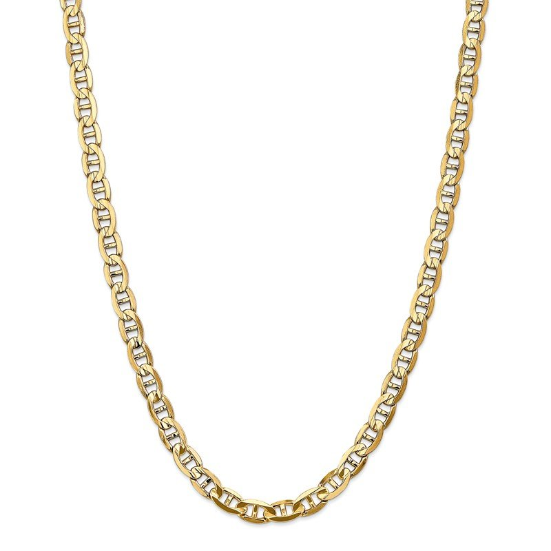 Quality Gold 14k 7mm Concave Anchor Chain