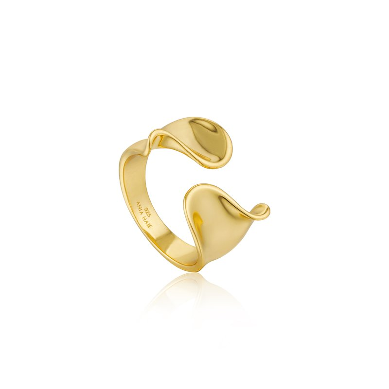 Ania Haie Twist Wide Adjustable Ring