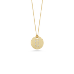 Roberto Coin 18Kt Gold Disc Pendant With Diamond Initial E