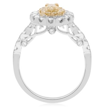 Flowering Yellow Diamond Ring