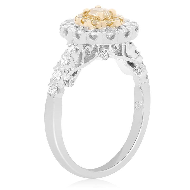 Roman & Jules Flowering Yellow Diamond Ring