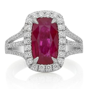 Three Carat Ruby & Diamond Ring