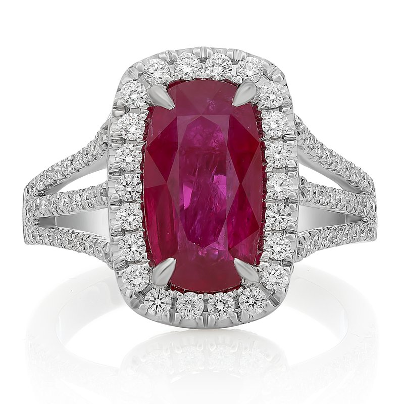 Roman & Jules Three Carat Ruby & Diamond Ring