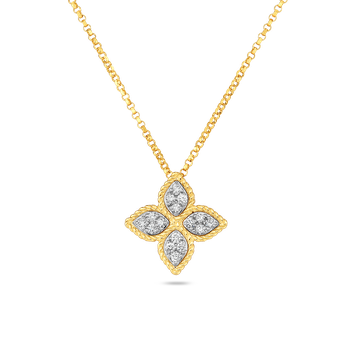 Medium Princess Flower Diamond Pendant
