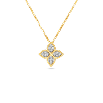 18KT GOLD MEDIUM PENDANT WITH DIAMONDS