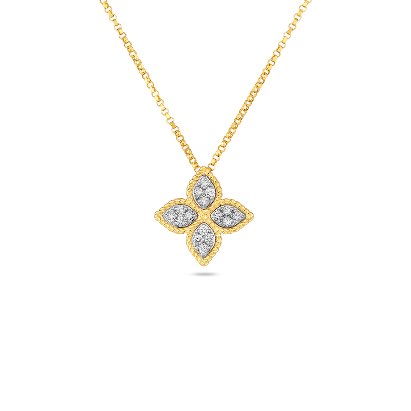 Roberto Coin 18Kt Gold Medium Pendant With Diamonds