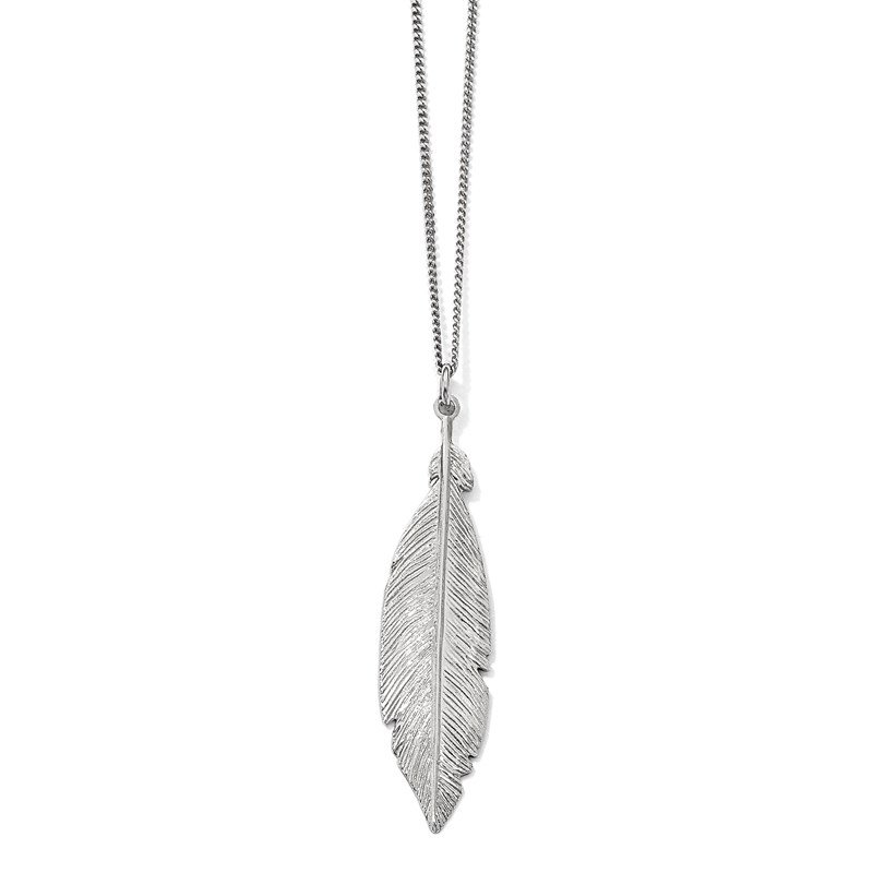 Leslie's Leslie's Sterling Silver Rhodium-plated Leaf w/1in ext. Necklace