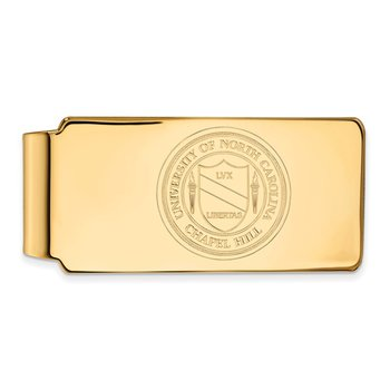Gold-Plated Sterling Silver University of North Carolina NCAA Money Clip
