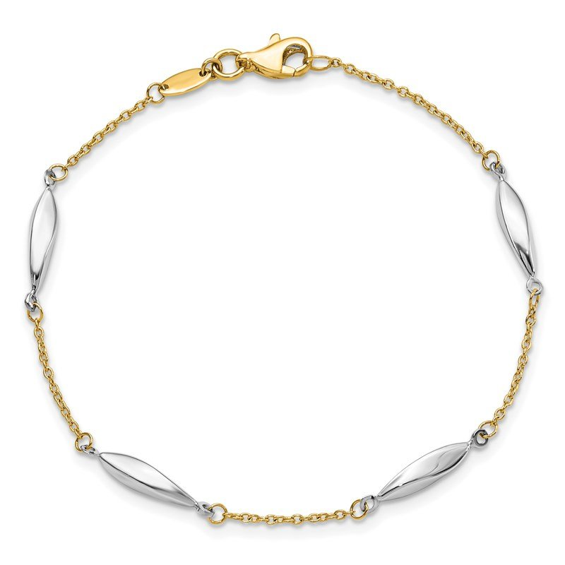 Leslie's Leslie's 14K Two-tone Polished Bracelet