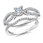 Valina Bridals Diamond Engagement Ring Mounting in 14k White Gold (.30 ct. tw.)