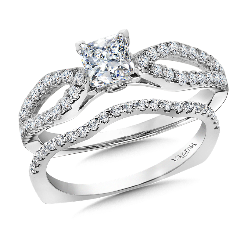 Valina Diamond Engagement Ring Mounting in 14k White Gold (.30 ct. tw.)