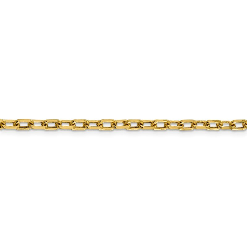 Quality Gold 14k 3.7mm Semi-solid D/C Open Link Cable Chain