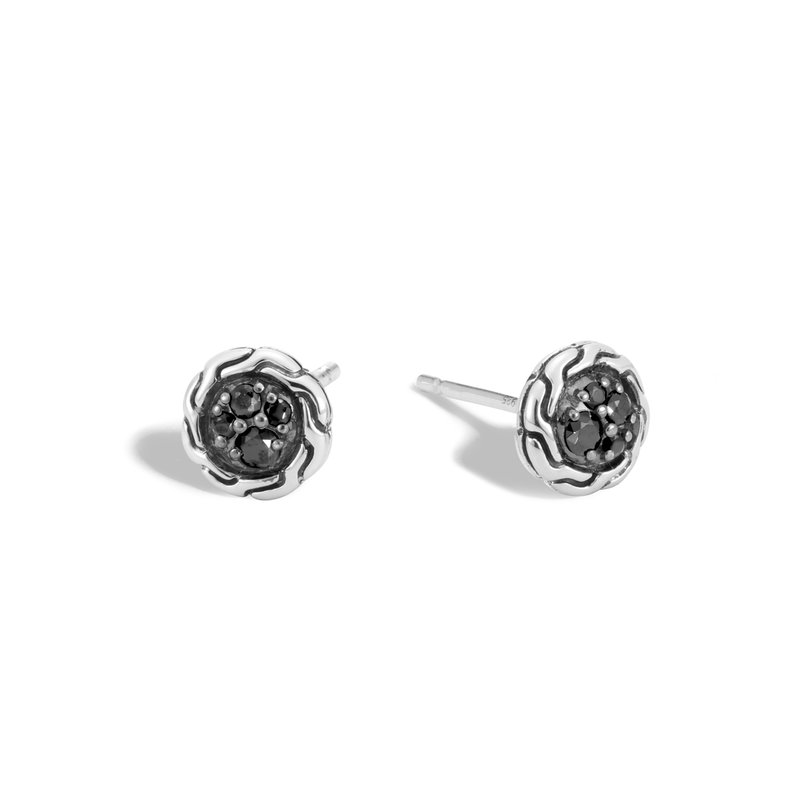 JOHN HARDY Classic Chain 7MM Stud Earring in Silver with Gemstone