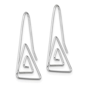 Sterling Silver Hook Triangle Earrings