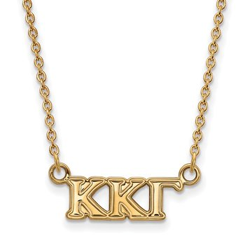 Gold-Plated Sterling Silver Kappa Kappa Gamma Greek Life Necklace