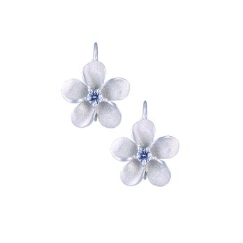 Precious Silver Plumeria Leverback Earrings