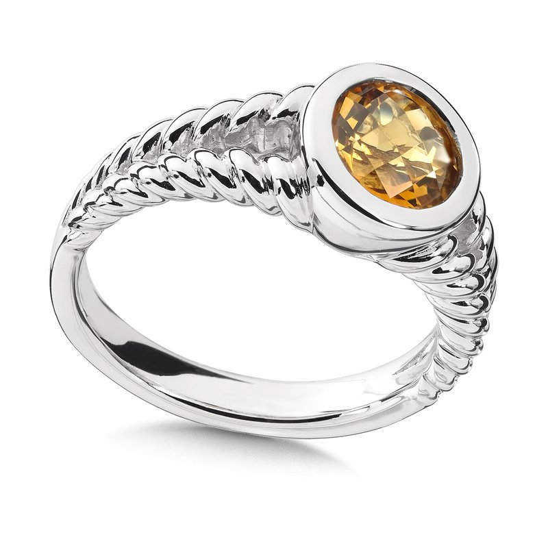 Colore Sg Sterling Silver Citrine Essentials Ring