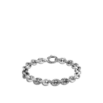Classic Chain 8MM Knife Edge Link Bracelet in Silver. Available at our Halifax store.