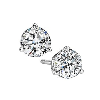 Martini Diamond Stud Earrings in 14K White Gold (3/4 ct. tw.) I1 - G/H