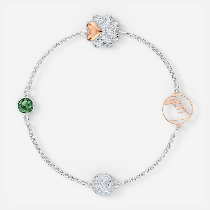 Swarovski Swarovski Remix Collection Clover Strand, Green, Mixed metal finish