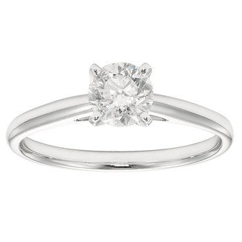 14KW 3/4 CTW ROUND DIAMOND SOLITAIRE