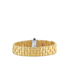 Roberto Coin 18Kt Gold 3 Row Bracelet With Diamond Clasp