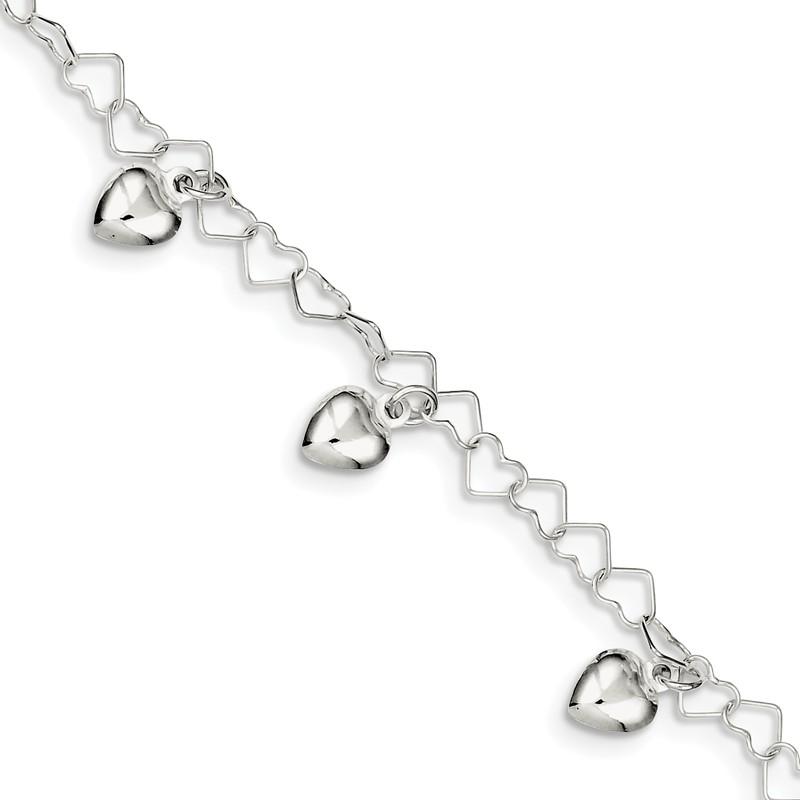 Sterling Silver Themed Jewelry Themed Bracelets Childrens 7 mm 6 in Cross Charm Childs Bracelet