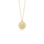 Roberto Coin Disc Pendant With Diamond Initial K