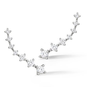 14K  Diamond Earring  Climbers