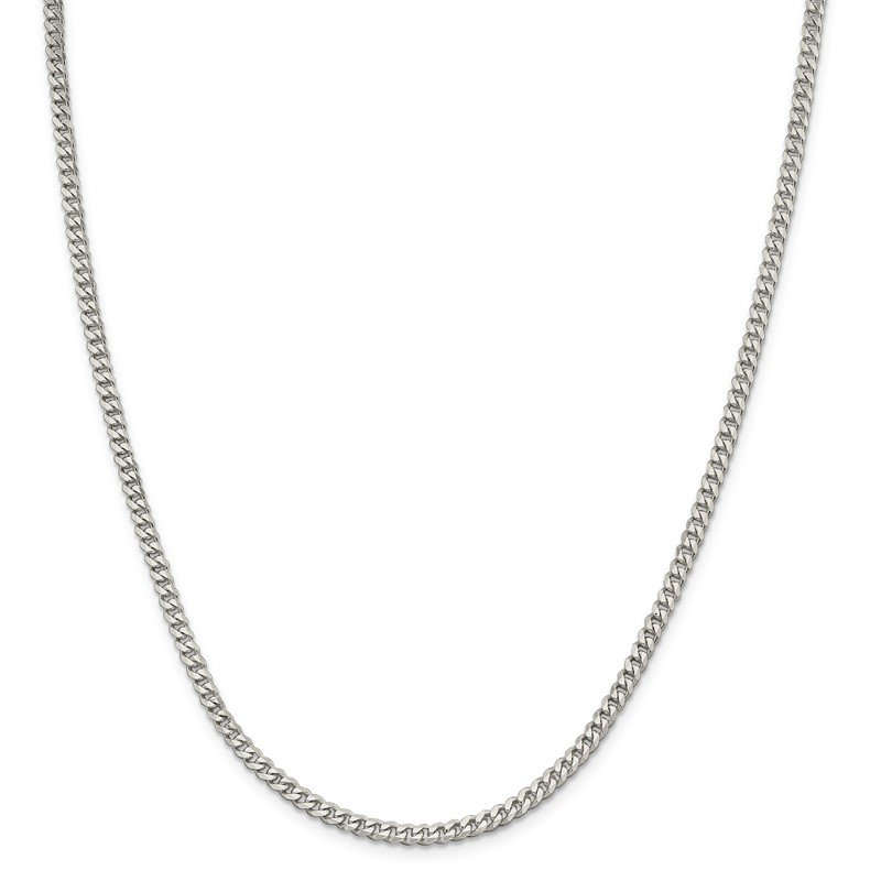 Quality Gold Sterling Silver Rhodium-plated 3.5mm Curb Chain