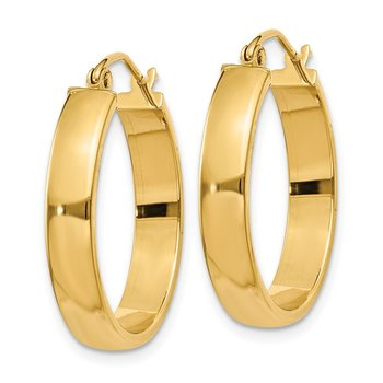 14k Polished Hoop Earring