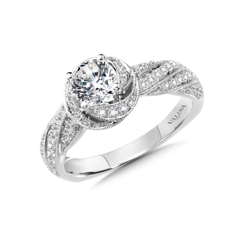 Diamond Engagement Ring Mounting in 14K White Gold (0.41 ct. tw.)