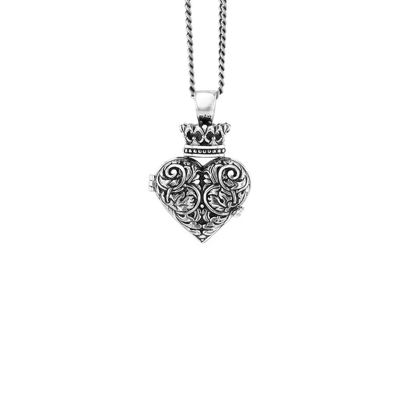 King Baby Engraved Baroque Heart Locket