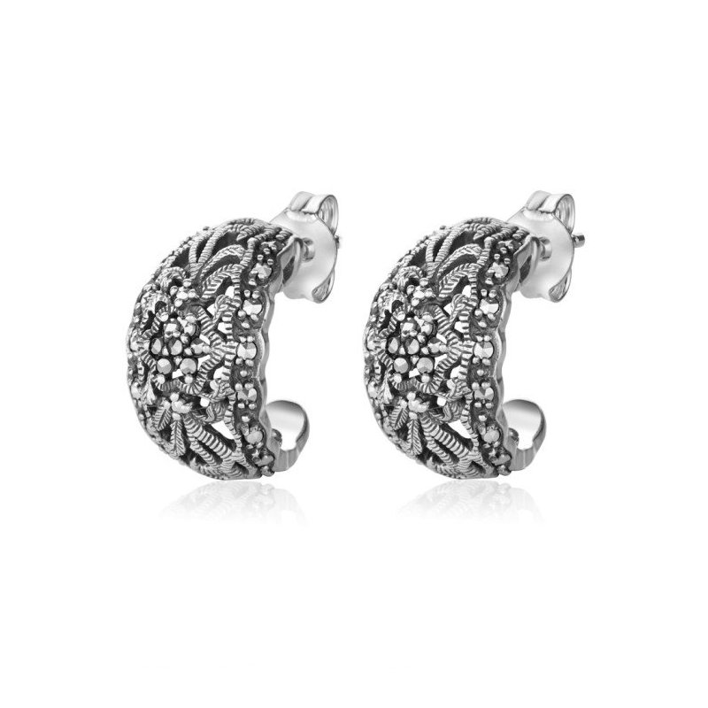 LARUS Jewelry Classic Crescent Earrings