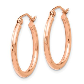 Leslie's 14K Rose Gold 2mm Polished Hoop Earrings