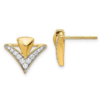 14k Diamond Fancy Post Earrings