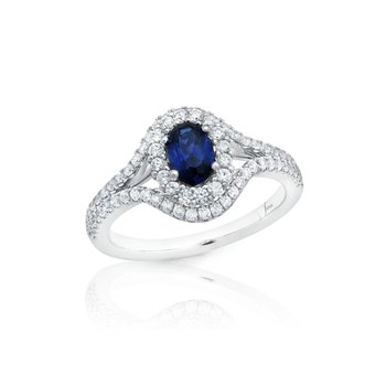 Better With You Sapphire and Diamond Halo Ring