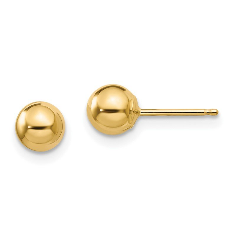 Quality Gold 14k Madi K Polished 5mm Ball Post Earrings