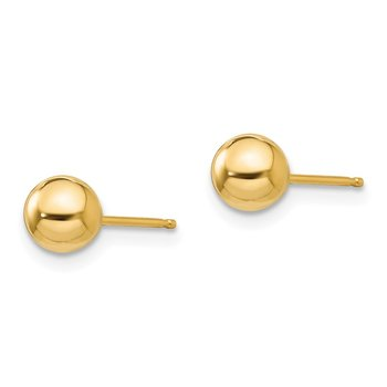 14k Madi K Polished 5mm Ball Post Earrings