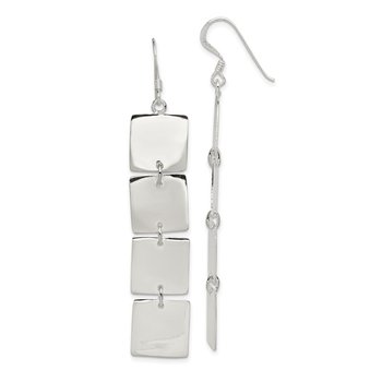 Sterling Silver Multiple Blocks Earrings