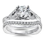 Caro74 Diamond Engagement Ring Mounting in 14K White Gold with Platinum Head (.12 ct. tw.)