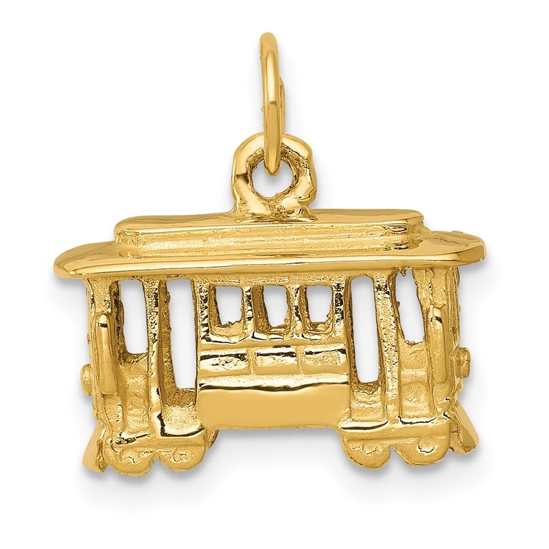 Quality Gold 14k Cable Car Charm