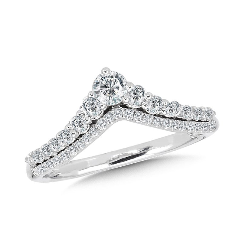 SDC Creations Diamond Enhancer Chevron Wedding Band